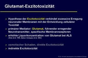 Ursachen der ALS - Glutamat