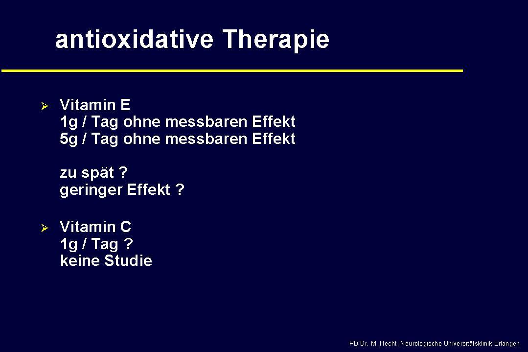 ALS - Antioxidative Therapie
