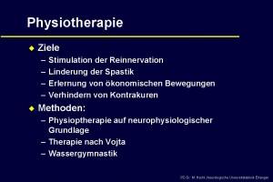 Physiotherapie bei der amyotrophen lateralsklerose